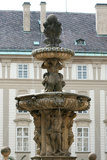 Czech Republic. Prague. Fountain of Kohl by Hieronymus Kohl, 1686 . Castle Complex Photographic Print