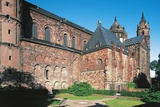 One Side of Worms Cathedral, 11th-13th Century, Gothic Style, Worms, Rhineland-Palatinate, Germany Photographic Print