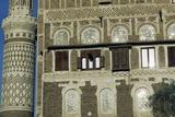 Detail of Building and Minaret in Sana'A (Unesco World Heritage List, 1986), Yemen Photographic Print