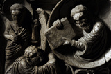 Moses Receives the Law. Baptismal Font. 12th Century. Basilica of San Frediano. Lucca Photographic Print