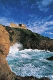View of Genovese Tower, Girolata (Unesco World Heritage List, 1983), Corsica, France Photographic Print