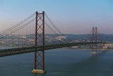 25th April Bridge over River Tagus (Tejo), Which Connects Lisbon to Almada, Portugal Photographic Print