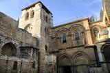 Israel. Jerusalem. Basilica of the Holy Sepulchre. Crusader Facade. Old City. Christian Quarter Photographic Print