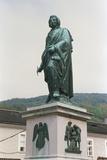 Monument to Wolfgang Amadeus Mozart (Salzburg, 1756-Vienna, 1791), Mazartplatz, Salzburg, Austria Photographic Print