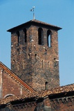 Bell Tower of the Monks, 8th Century, Basilica of St Ambrose, Milan, Lombardy, Italy Photographic Print