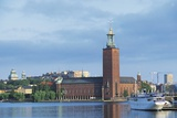 The Stadhuset (Town Hall), 20th Century, Seen from Lake Malaren, Stockholm, Sweden Photographic Print