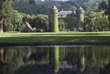 Medieval and Neo-Gothic Chateau of Sedaiges, Marmanhac, Auvergne, France Photographic Print