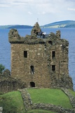 Tower of Urquhart Castle on Banks of Loch Ness, Drumnadrochit, Scotland, United Kingdom Photographic Print