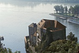 The Confluence of the Inn River and the Danube, Passau, Bavaria, Germany Photographic Print