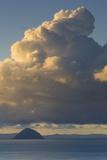 Cumulonimbus Clouds over Sea, Ailsa Craig, Isle of Arran, North Ayrshire, Scotland, Uk Photographic Print