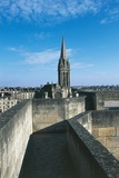 St Peters Church Seen from Barbacan of Chateau of Caen, Normandy, France Photographic Print