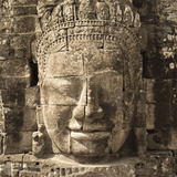 Faces of Avalokiteshvara, Bayon Temple, Angkor Thom, Angkor, Siem Reap, Cambodia Photographic Print