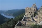 Fortress at the Riverbank, Danube River, Wachau, Lower Austria, Austria Photographic Print