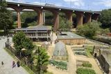 Ouseburn Farm Below Byker Bridge, Newcastle Upon Tyne, Tyne and Wear, Uk Photographic Print
