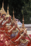 Khmer Dancers, Wat Phnom Chaul Chhnaim, New Year's Celebration, Phnom Penh, Cambodia Photographic Print
