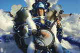 String Band Musician, Mummers New Year's Parade, Philadelphia, Pennsylvania Photographic Print