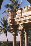 Columns Crowned by Achaemenian Bull Capitals Decorating the Entrance to the Zoroastrian College Photographic Print