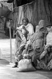 Pilgrims Resting, Badrinath, Joshimath, Garhwal, Uttarakhand, India, 1978 Photographic Print
