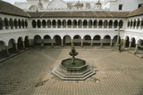 High Angle View of a Courtyard in a Cloister, La Merced Convent, Quito, Ecuador Photographic Print