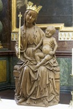 Enthroned Madonna and Child, Church of Our Lady before Tyn, Prague, Czech Republic Photographic Print