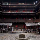 Fujian Tulou (Fortified Earth Building), Tin Shi Lou, Meilin, Fujian Province, China Photographic Print