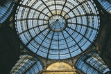 Low Angle View of a Domed Ceiling, Victor Emmanuel Ii, Milan, Lombardy, Italy Photographic Print