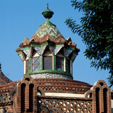 Dome of the Horses's Pavilion. Finca Guell. by Antoni Gaudi (1852-1926). Barcelona Photographic Print