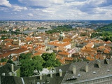 View of Prague and the Little Quarter from the Top of the Cathedral of St. Vitus, Czech Republic Photographic Print