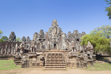 The South Side of the Bayon Temple, Angkor Thom, Angkor, Siem Reap, Cambodia Photographic Print