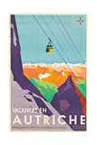 Poster Advertising Vacations in Austria Giclee Print