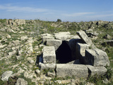 Syria. Ugarit. Ancient Port City at the Ras Shamra. Neolithic-Late Bronze Age. Well. Ruins Photographic Print