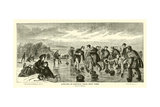 Curling in Central Park, New York, by J G Brown Giclee Print
