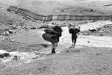 Two Porters Carrying Heavy Luggage, Gulmarg, Jammu and Kashmir, India, 1971 Photographic Print