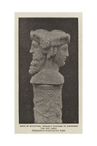 Piece of Sculpture, Probably Intended to Represent the God Janus Giclee Print