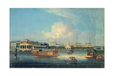 Factories at Canton, from the Harbour, China, 1850 Giclee Print