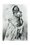 Caricature of Pope Pius IX (1792-1878), 1852 Giclee Print
