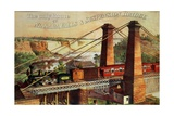 The Only Route Via Niagara Falls and the Suspension Bridge, 1876 Giclee Print