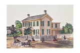 Abraham Lincoln's (1809-65) Residence Giclee Print