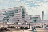 England. London. the Crystal Palace by Joseph Paxton. Great Exhibition, 1851. Photographic Print