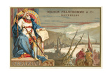 Charlemagne and the Crossing of the Alps Giclee Print