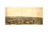 Birds Eye View of Springfield, Mass., Circa 1850, USA, America Giclee Print