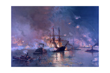 The Capture of New Orleans During the Civil War, 1886 Giclée-Druck