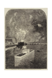 The Baptismal Fetes at Paris, Fireworks and Illuminations on the Seine Giclee Print