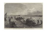 Gondolas Conveying Passengers and Luggage over the Lagoon to Venice Giclee Print