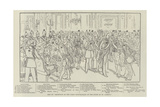 Key to Reception of the Corps Diplomatique at the Court of St James'S Giclee Print