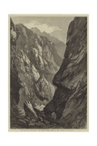 The Abyssinian Expedition, the Middle Sooroo Defile in the Senafe Pass Giclée-tryk