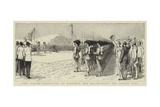 The Italian Occupation of Massowah, Red Sea, Hoisting the Italian Flag Giclee Print
