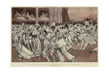 The Mid-Lent Festival at Nice, the White Ball at the Casino Giclee Print