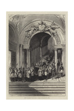 Grand Staircase of the Vatican, Funeral Procession of a Pope Giclee Print
