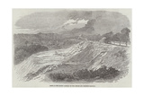 Scene of the Recent Landslip on the London and Brighton Railway Giclee Print